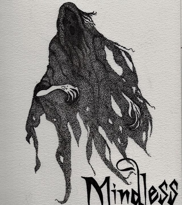 I made an art account for my inktober drawings so I'm not spamming everyone here. Check it out at @notevenghosts! And here's my drawing for the day 2 prompt - a dementor.
