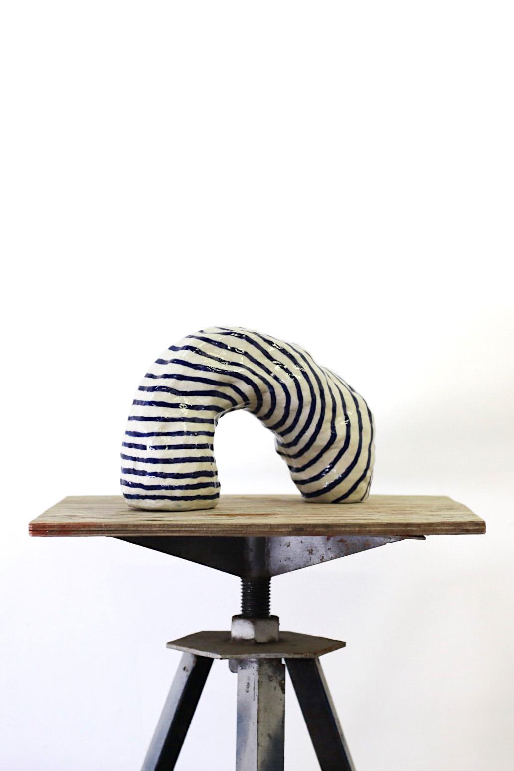 Peta Berghofer, Newly Formed, Vase #5, White raku, 2017 .jpg