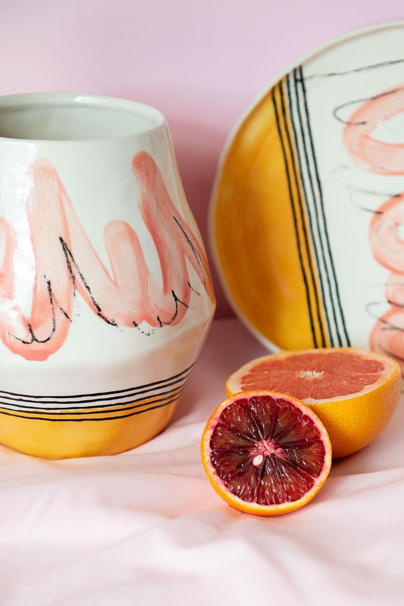 Peta Berghofer, Housebound, Large plate & Vase.jpg