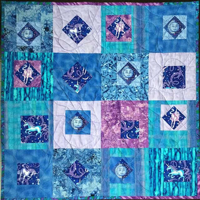 Made this little quilt from my stash for my new great niece Bella. She's a real cutie! #quilts #BabyQuilts #stratfordon