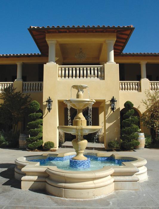 Fountain and Balustrade