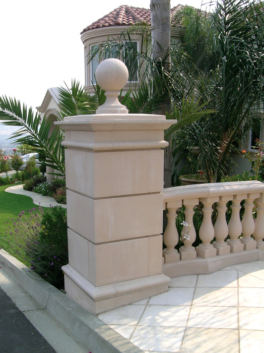 Segmented Pier with Cap & Balustrade