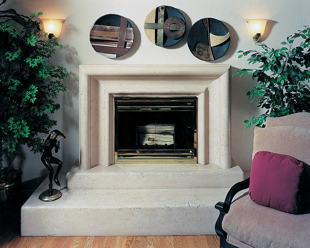 Merlot Mantel & Two Tiered Hearth