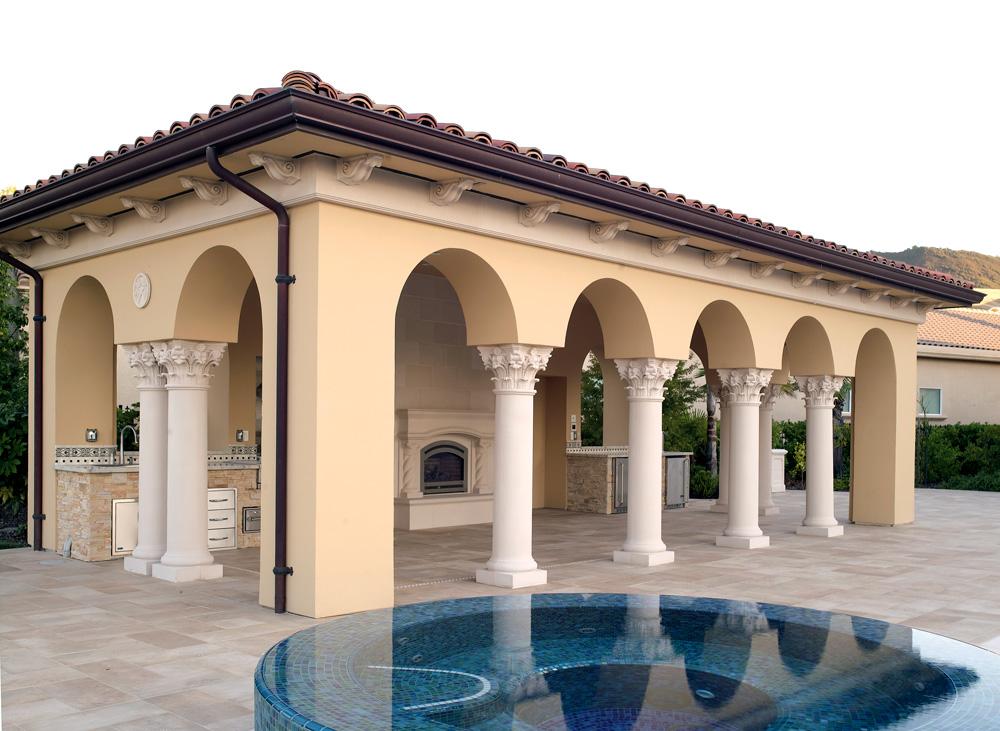 Colonnade, Mantle, etc.