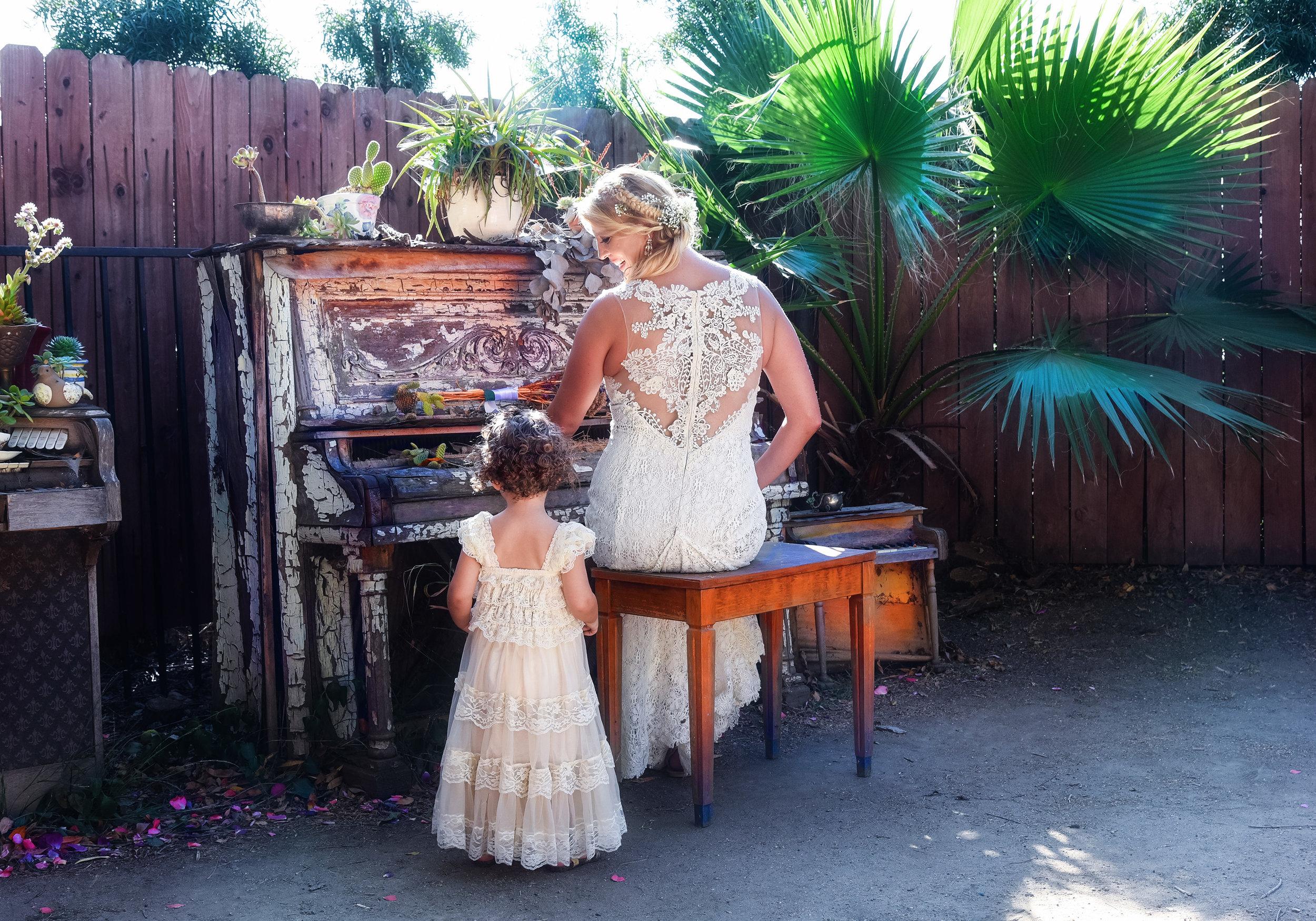 Bride and Flower Girl | Washington DC Photographer | Lifestyle & Fashion Photographer