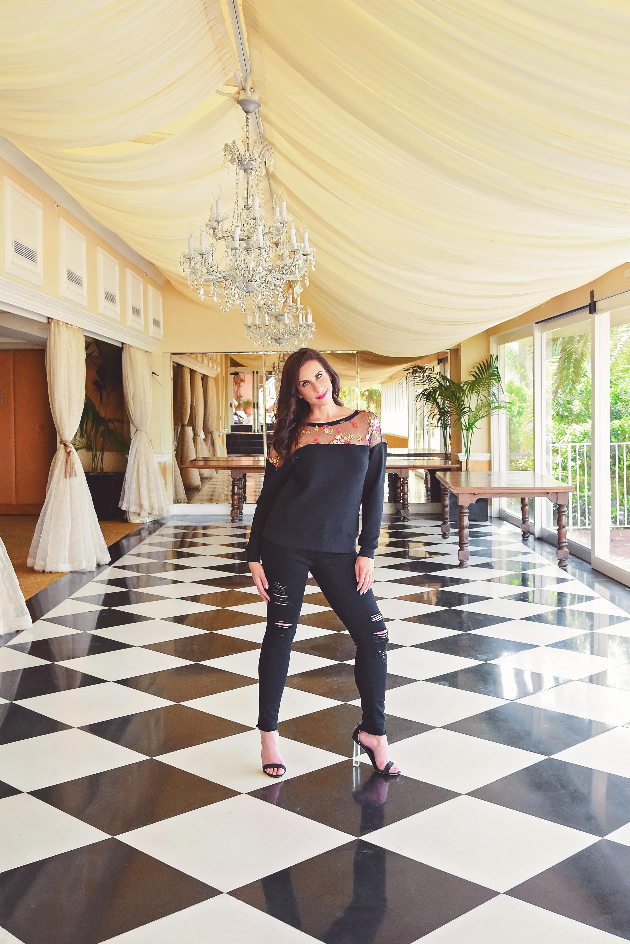 Fashion Floral Shirt Heels | Fashion Photography | Lacey O