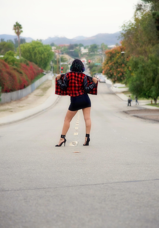 Fashion Plaid Jacket Heels | Fashion Photography | Lacey O