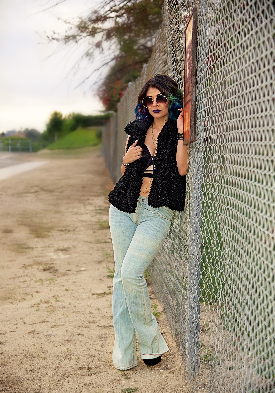 Fashion Sunglasses Black Vest | Fashion Photography | Lacey O