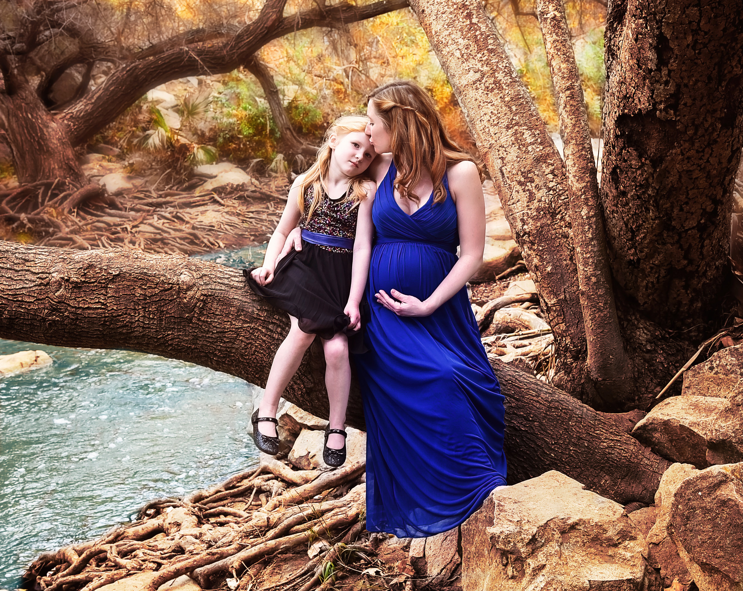Mother Daughter Maternity | Lifestyle Portrait Photography | Lacey O