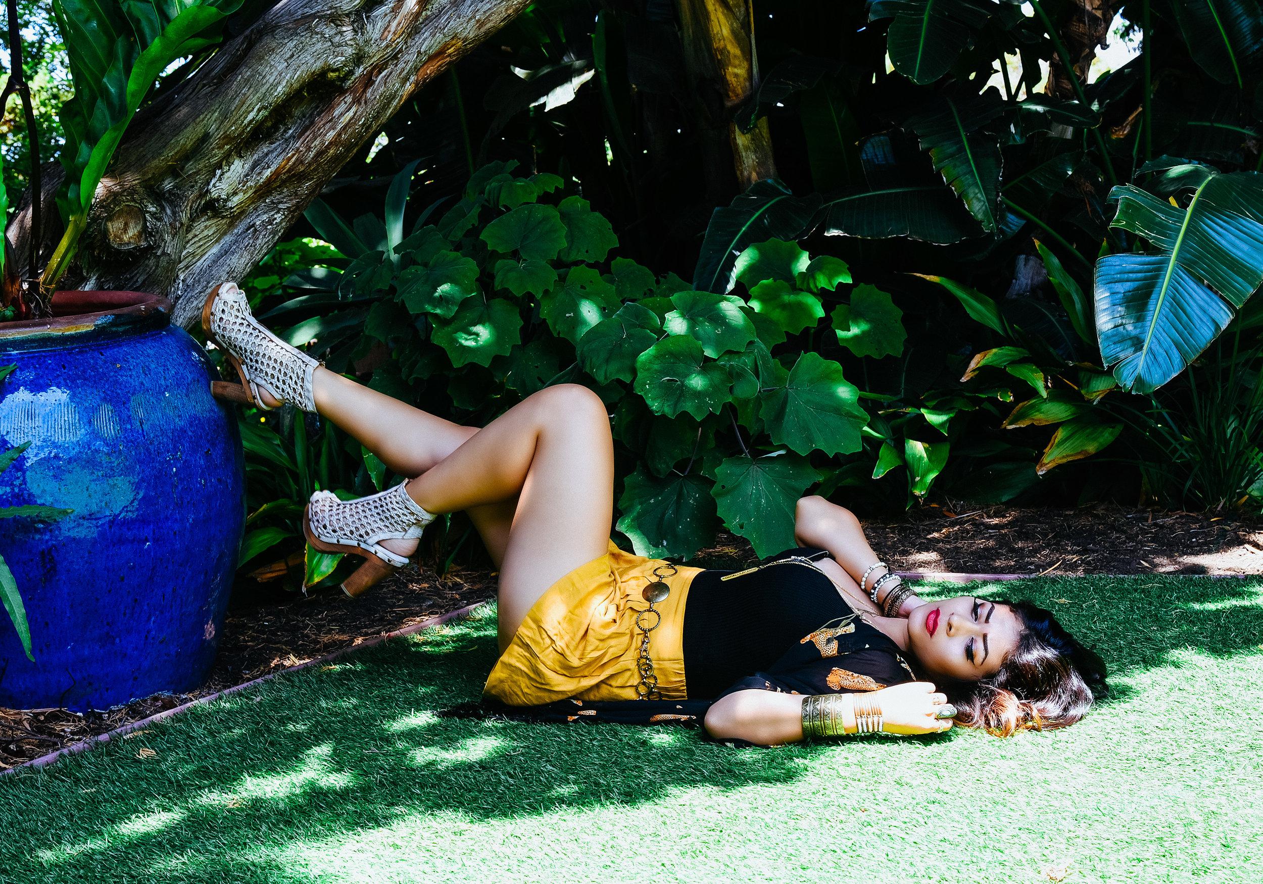 Fashion Jewelry Yellow Skirt Shoes | Fashion Photography | Lacey O | Washington DC