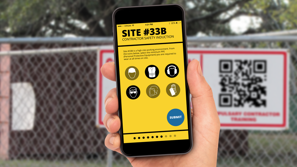 construction training phone instructions qr code