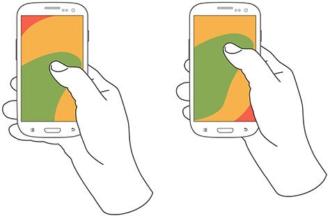 mobile ux design ergonomics