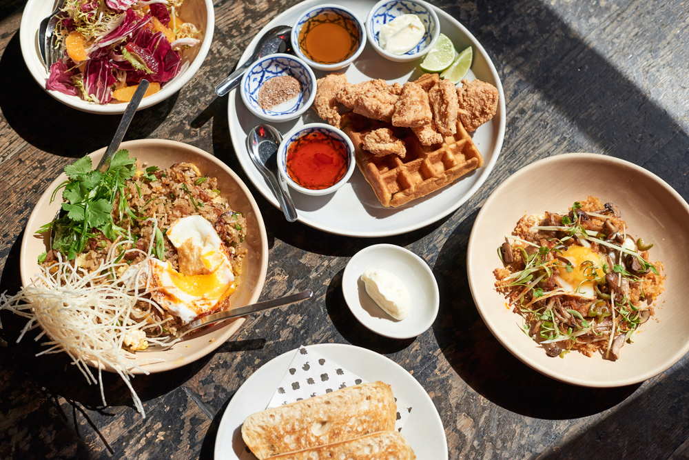 Chicken & Waffles <br> w/ Nasi Goreng
