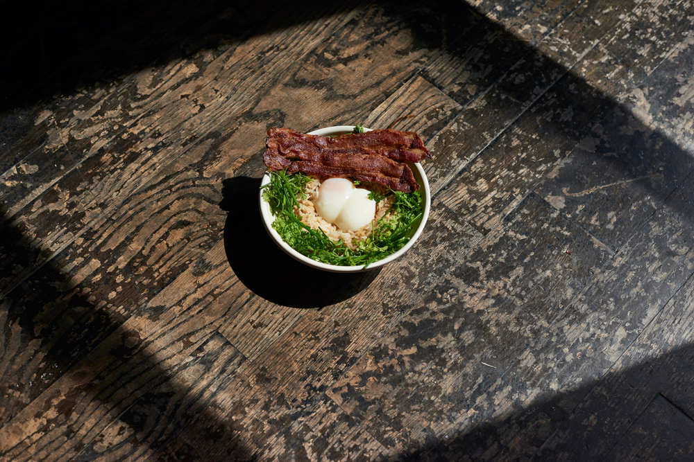 Brown Rice Bowl <br> w/ Bacon & Sausage