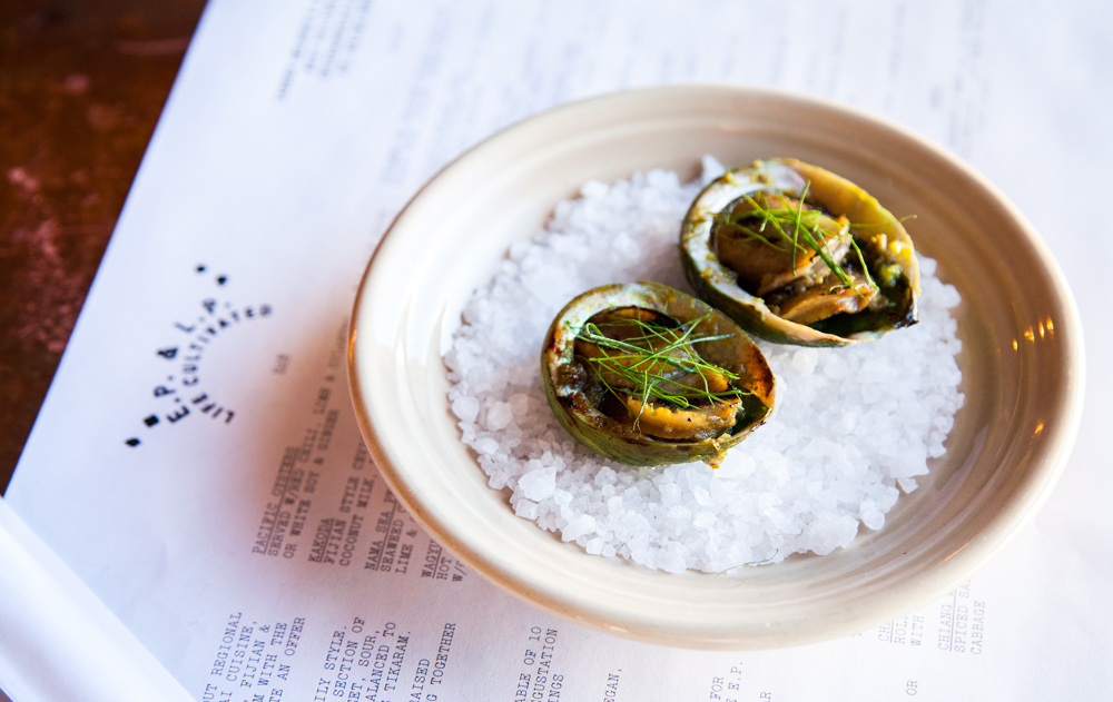 Wood Grilled Abalone