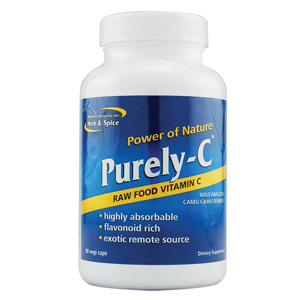 """6. Purely-C - One phrase comes to mind for Purely-C, """"top of the line."""" It's the only 100% food-source vitamin c plus flavonoids available. Its unique powers build up the immune system to fight off sickness. Take two capsules for immune support or more to help kick a common cold. Shake things up by opening the contents of the capsules into your favorite smoothie for a quick energy boost."""