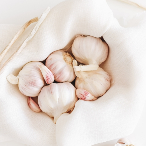 Garlic - Garlic has antimicrobial, antiviral, and anti-fungal properties for preventing illness. It's excellent for digestion, circulation, and detoxification as it helps activate the liver's enzymes to break down toxins and remove them. Opt for fresh garlic and add it to your favorite meals.