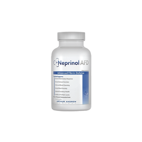 Neprinol by Arthur Andrew - Fibrin is an insoluble protein formed during the clotting of blood. As fibrin builds up in our bodies, it may cause many unhealthy conditions. Neprinol is used to assist and defend the body from these harmful effects. This product is best for clearing blocked arteries, improving blood flow, and keeping blood platelets from sticking together (clotting). It can also help break down scar tissue damage in the cardiovascular system. Neprinol has been a top recommended product for Spirit of Health for ten years. We've seen many results from people using it, and that's why it's number one on our list.