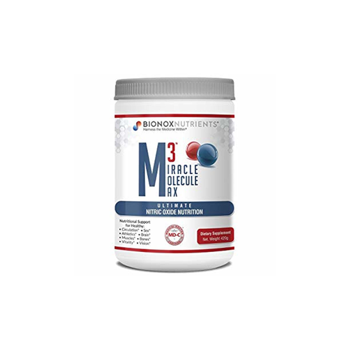 M3 Miracle Molecule Max by Bionox Nutrients - This formula improves blood flow and circulation throughout the entire body using natural ingredients. Beetroot powder produces nitric oxide in your body via a different mechanism than L-arginine and L-citrulline. What is important is to utilize all three pathways for maximum effectiveness. That is why M3 contains all three ingredients—arginine, citrulline, and beetroot extract—for a unique three-stage nitric oxide supplement that works.