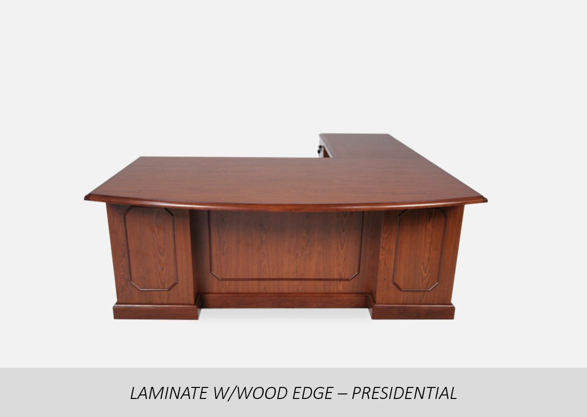 Laminate w/Wood Edge - Presidential    Picture-Frame Molding | Floor Wood Molding | Laminate or Veneer Options