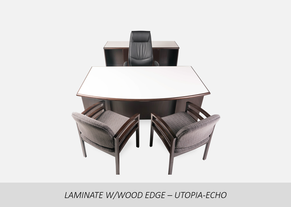 """Laminate w/Wood Edge - Utopia-Echo    Two-Tone Color 