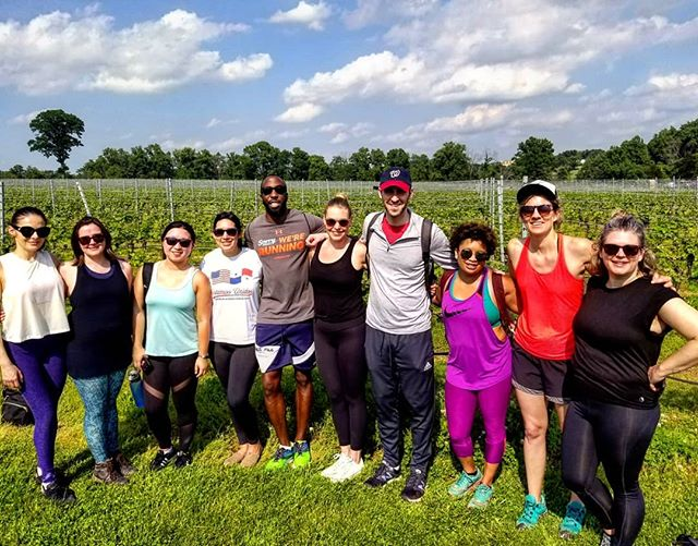 Happy #winewednesday.  We had a blast on our double vineyard hike to @smvwine, @rocklandsfarm, and Sugarloaf Mountain. If you missed out, you can enjoy wine, cider, and beer on our upcoming June hikes! #trailsandalesdc #sugarloafmountainvineyard #sugarloafmountainmd #hikelocaldrinklocal #rocklandsfarmwinery