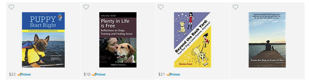East Bay dog books about training and behavior on Amazon.
