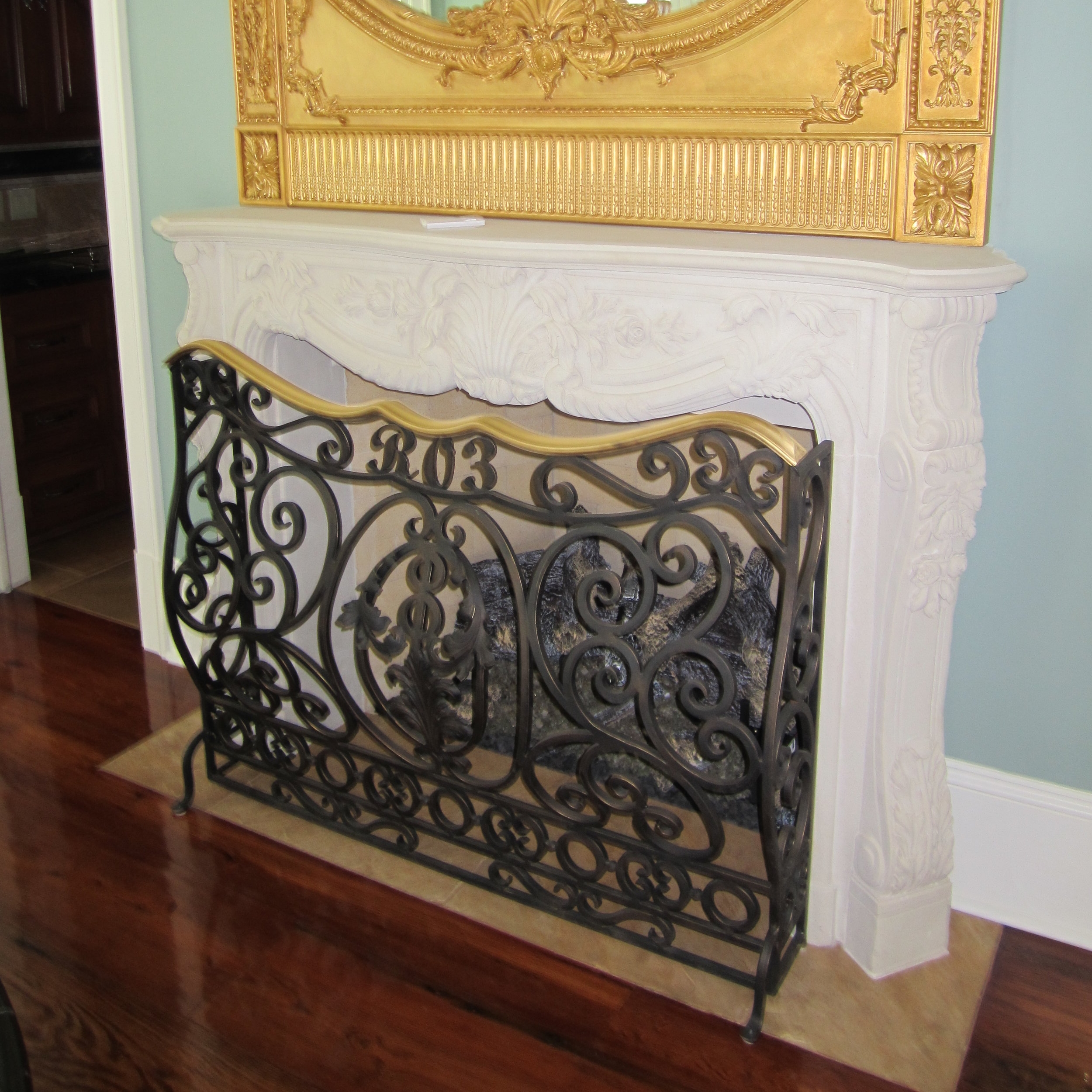 Cast Stone Fireplace-French-013