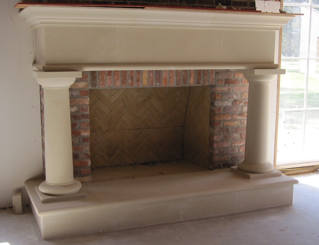 Cast Stone Fireplace-Hays Town 1-018