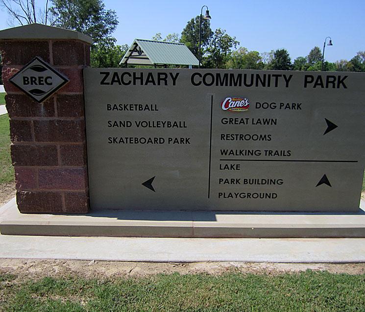 Cast Stone Sign-BREC-Zachary, LA S-004
