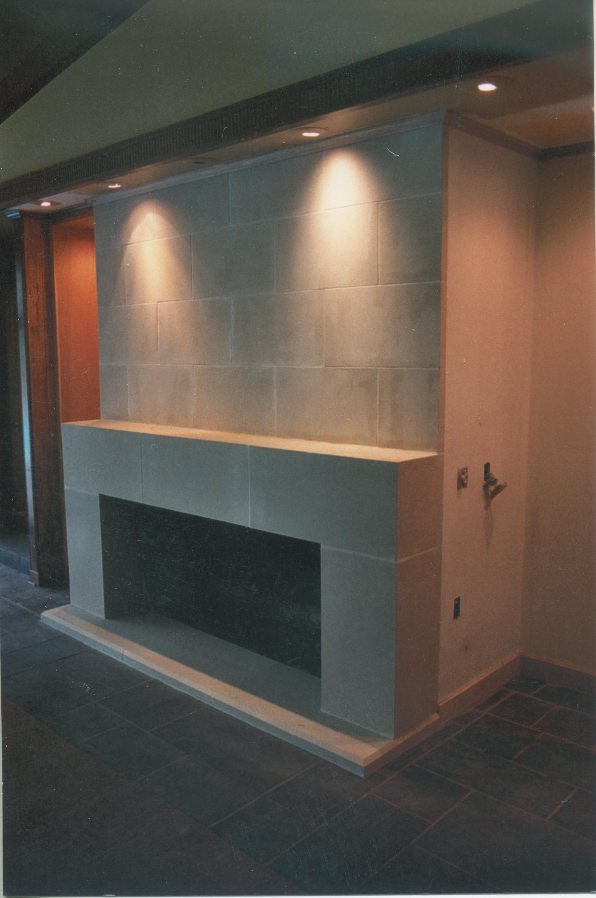 Cast Stone Fireplace-Modern-022