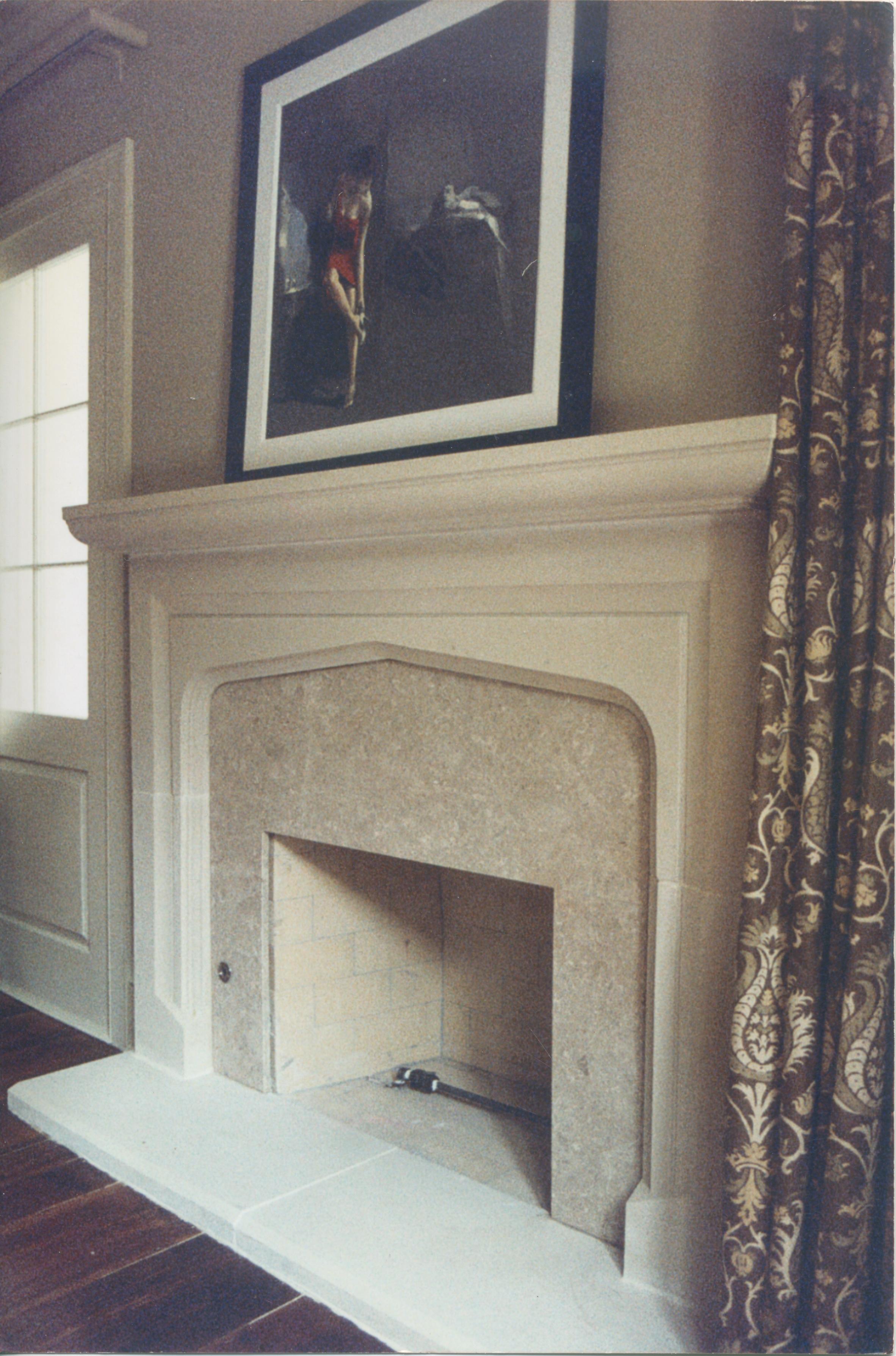 Cast Stone Fireplace-Tudor-021