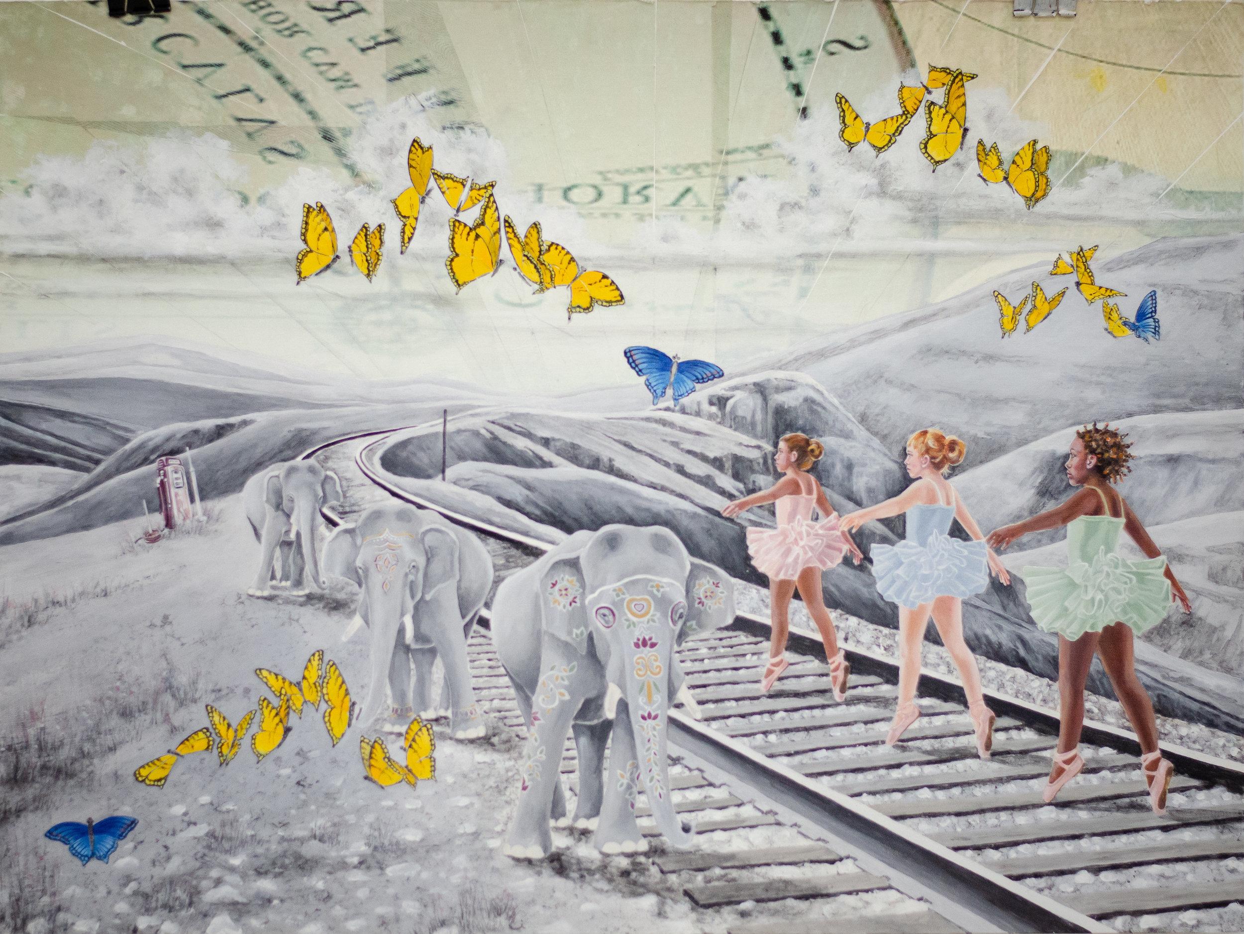 Painting by Lauren Bergman