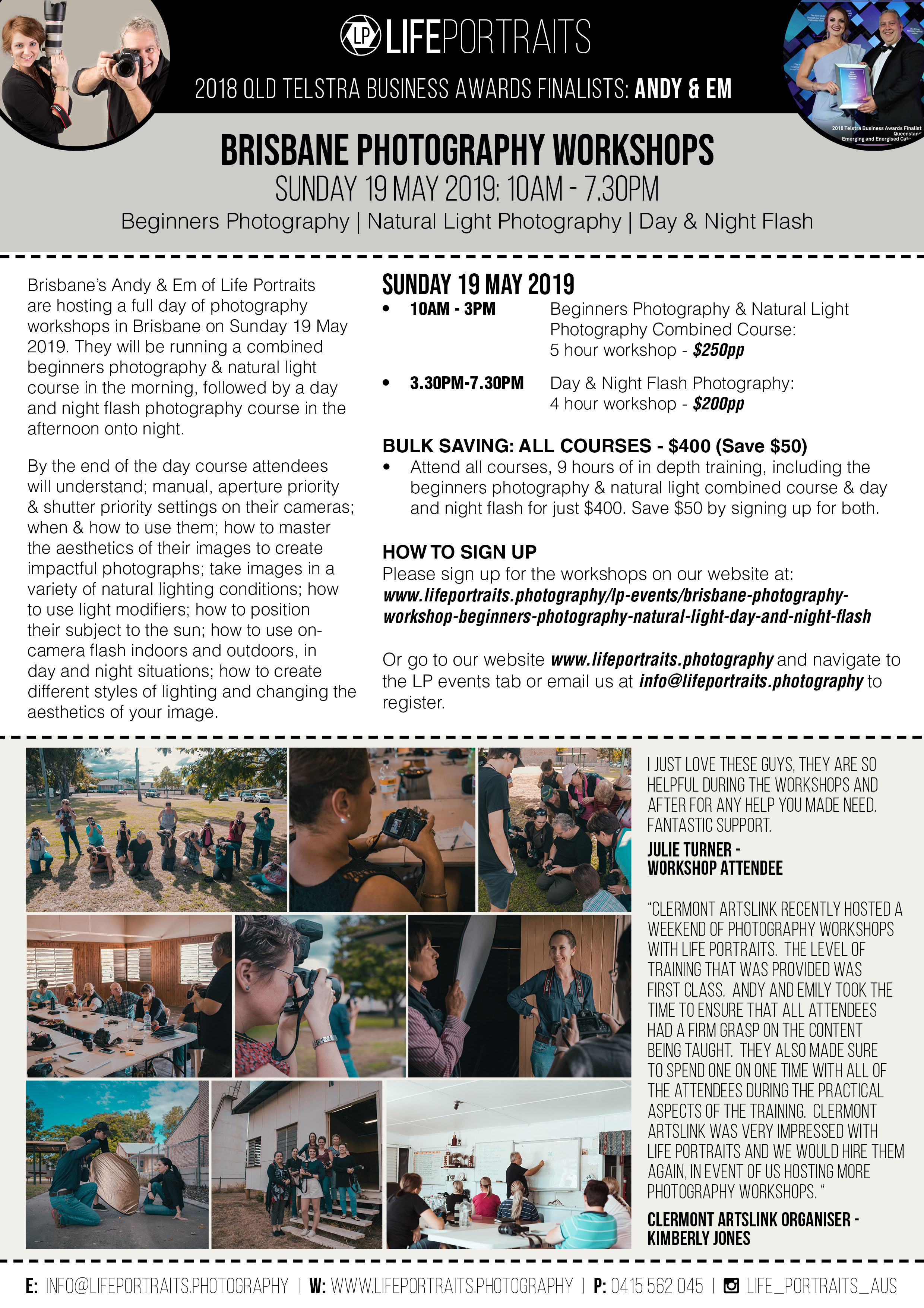Brisbane Photography Workshops