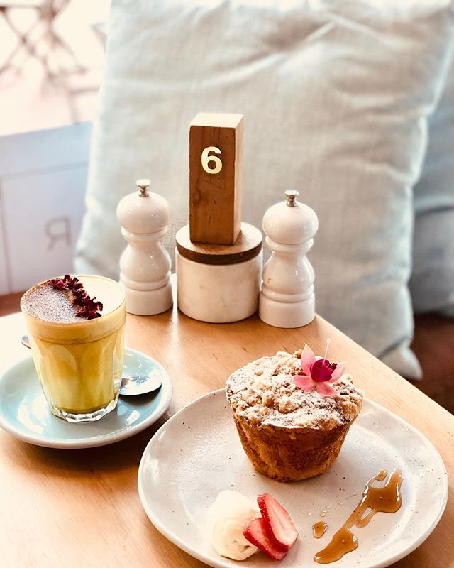 nothing compares to a Banana Toffee muffin and Tumeric Latte on a cold day! #winter #indulgence