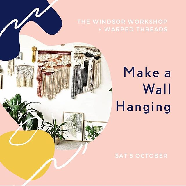 """Have you booked yet? Saturday 5 October will see us host @warpedthreads  for their Beginners Weaving Workshop, reviewed as """"everything a workshop should be - relaxed, enjoyable and informative"""" and """"fantastic day / girls / lunch / location and take home pack!"""" More reviews in stories...."""