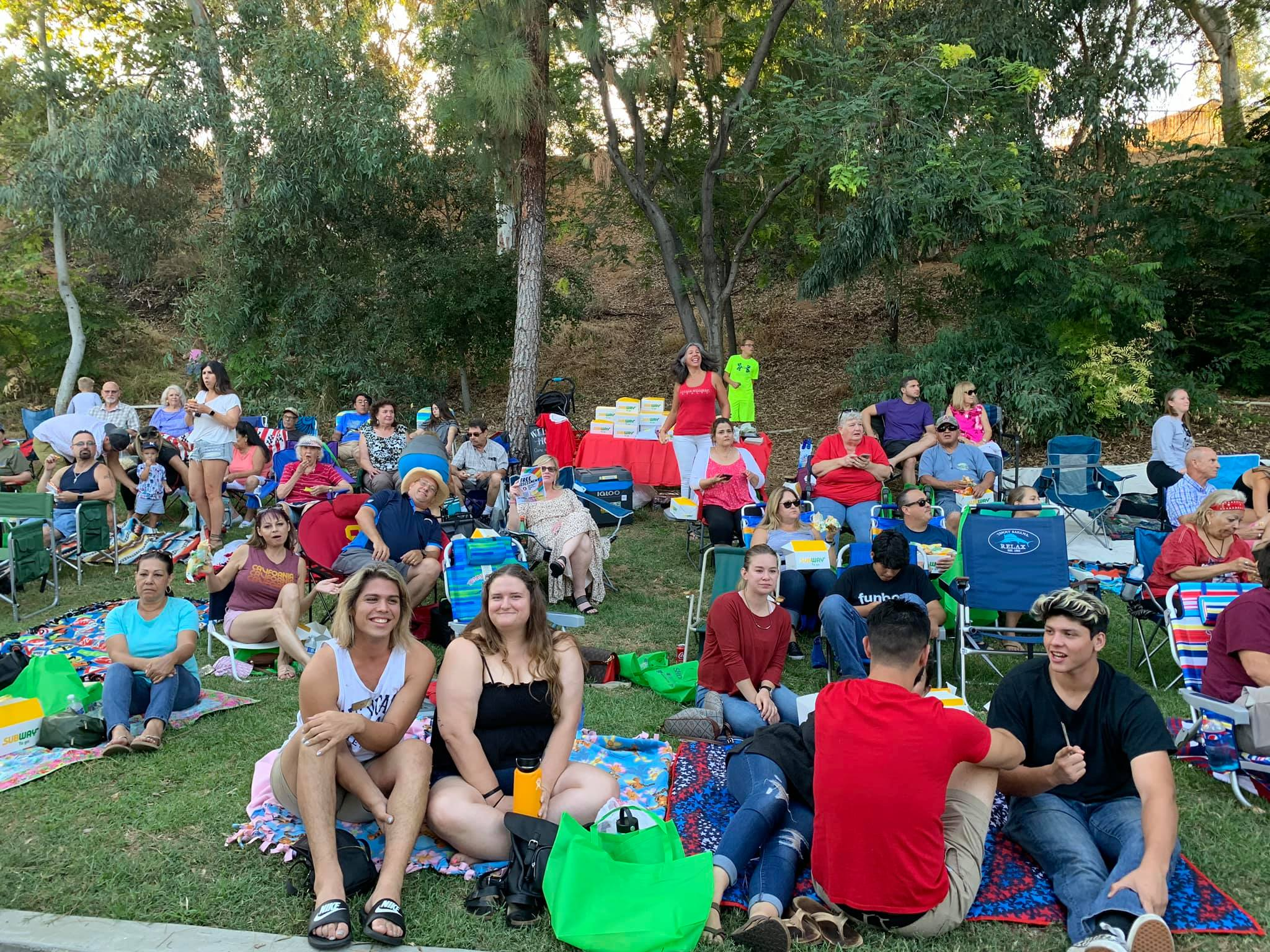 Enjoying the sweet tunes of The Answer at La Verne Heritage Park.