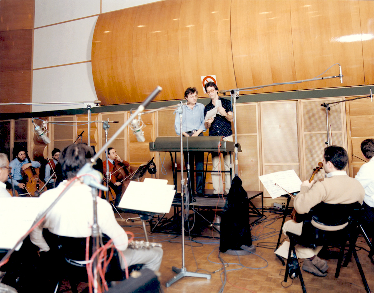 Richard Conducting the Rome Philharmonic at  RCA Studios