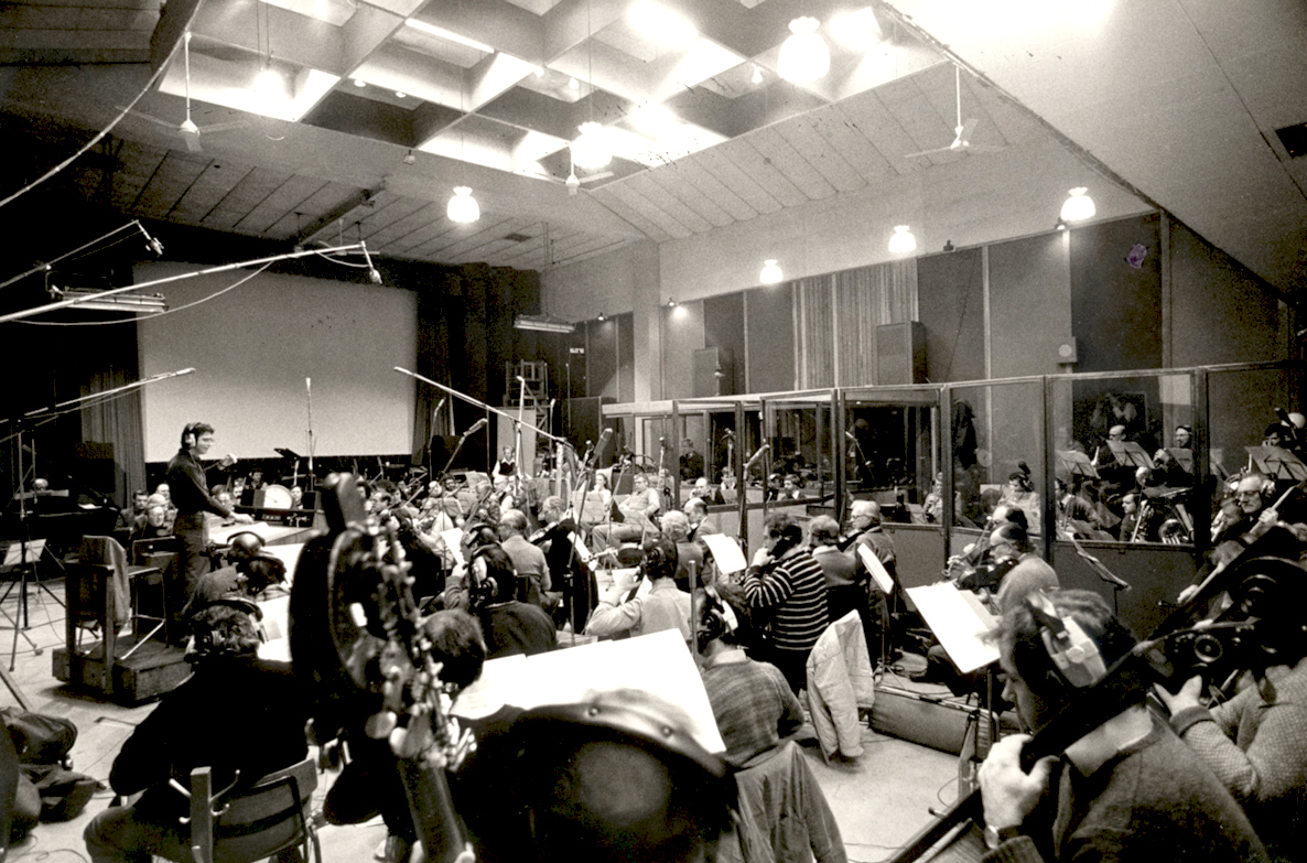Richard Conducting the London Symphony Orchestra  at Olympic Studios