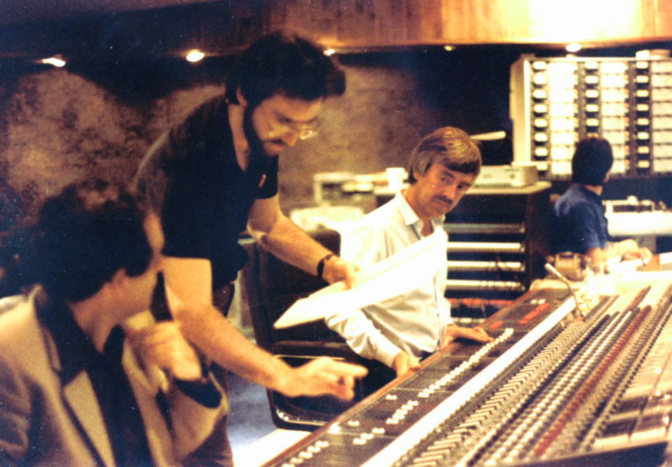 Richard and acclaimed  engineer John Richards at CTS Studios,  Wembly, England