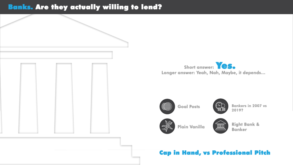 Are the Banks willing to lend?