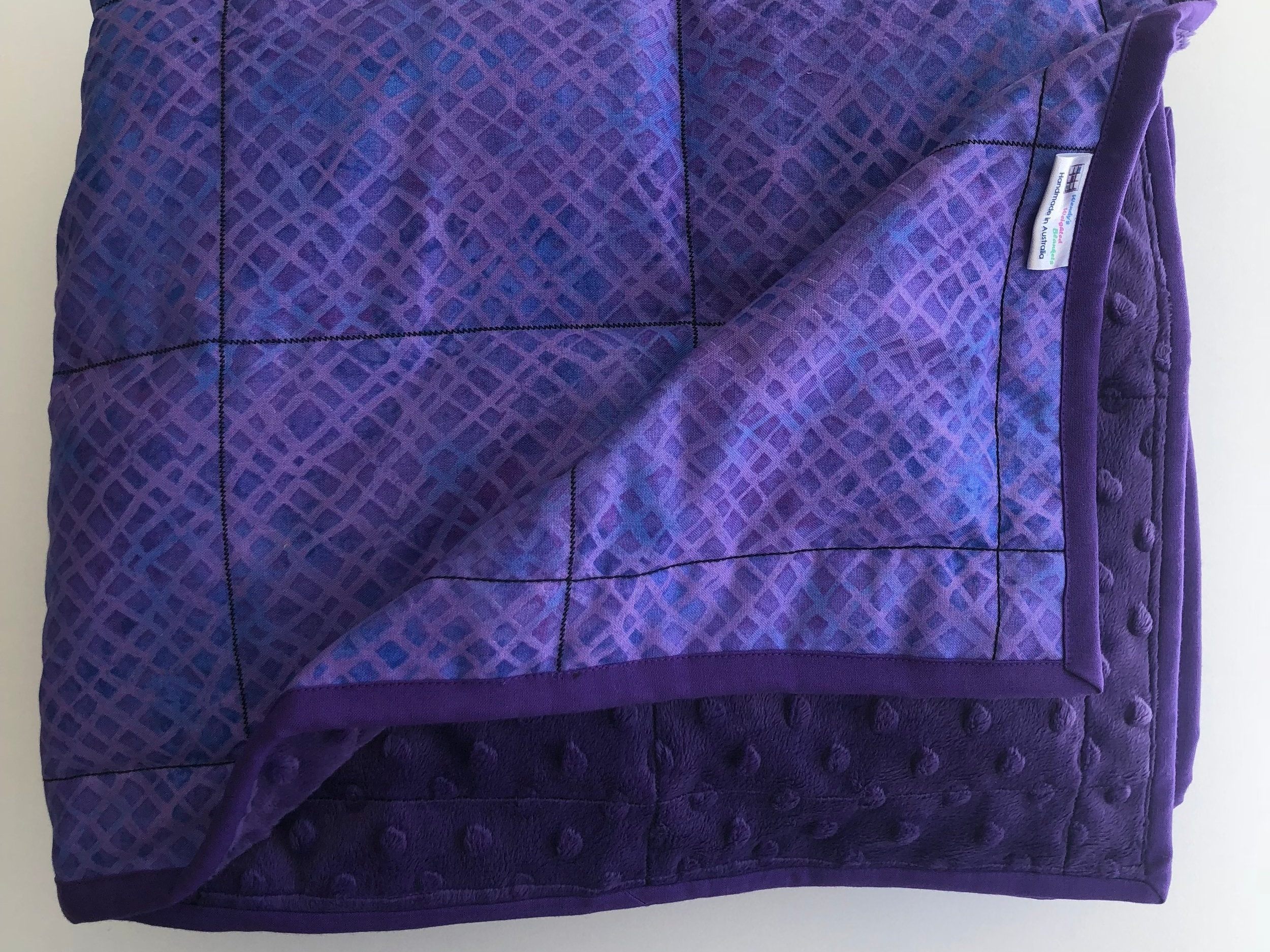 Weighted Blankets150 cm x 100 cm or XL 170 cm x 110 cm approx.Stock items or Custom made in your choice of fabrics. -