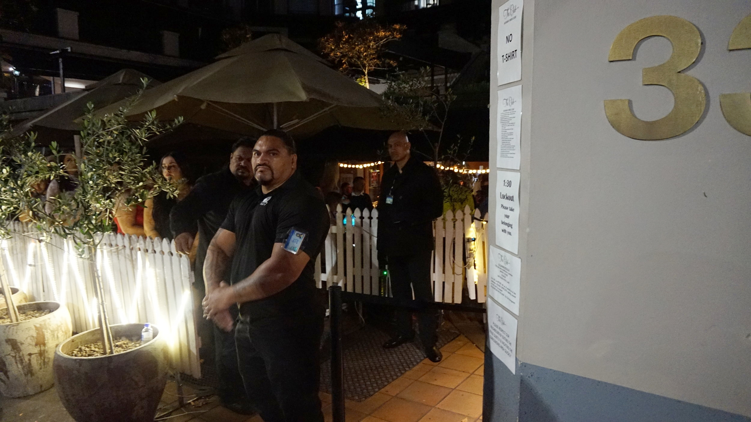 Security work, nightclubs, security guards