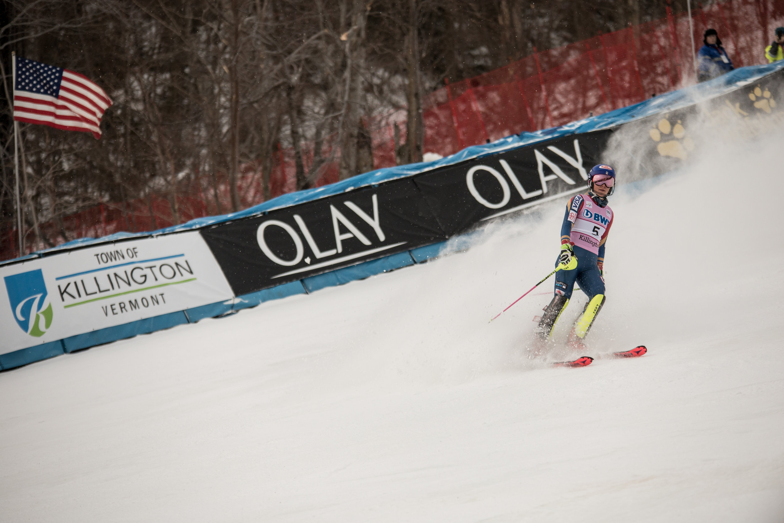 Team USA local NE sensation, M. Shiffrin after WINNING both runs and the overall by a huge amount in Sunday's slalom.