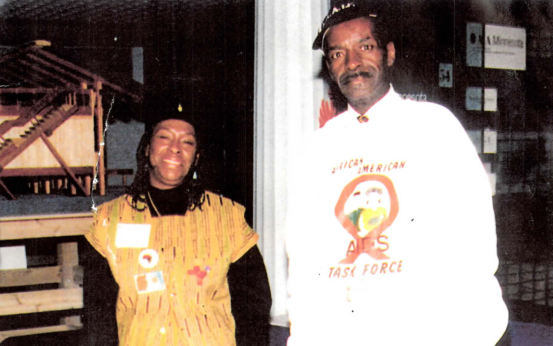 "Sarah Simmons and Robert ""Pops"" Preston, founding staff members of  African American AIDS Task Force."