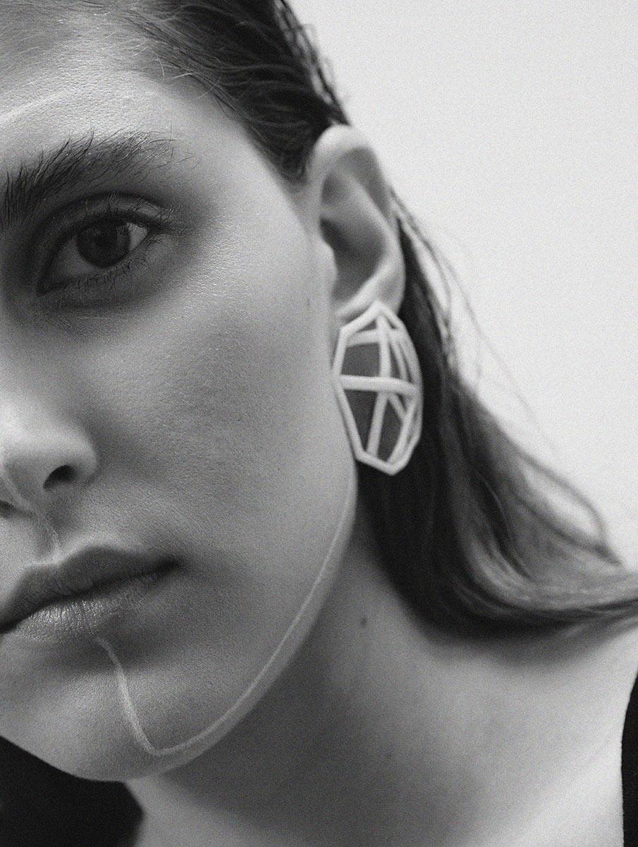 Octagon Earring