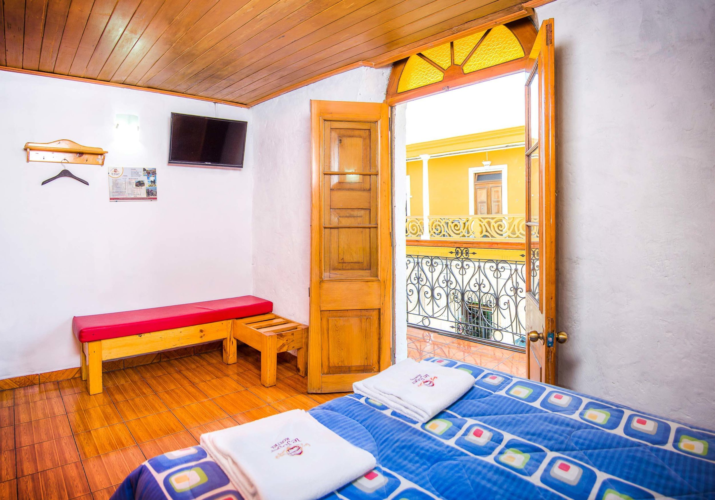 Double Room with Balcony   at Le Foyer Hostel   Book with Us