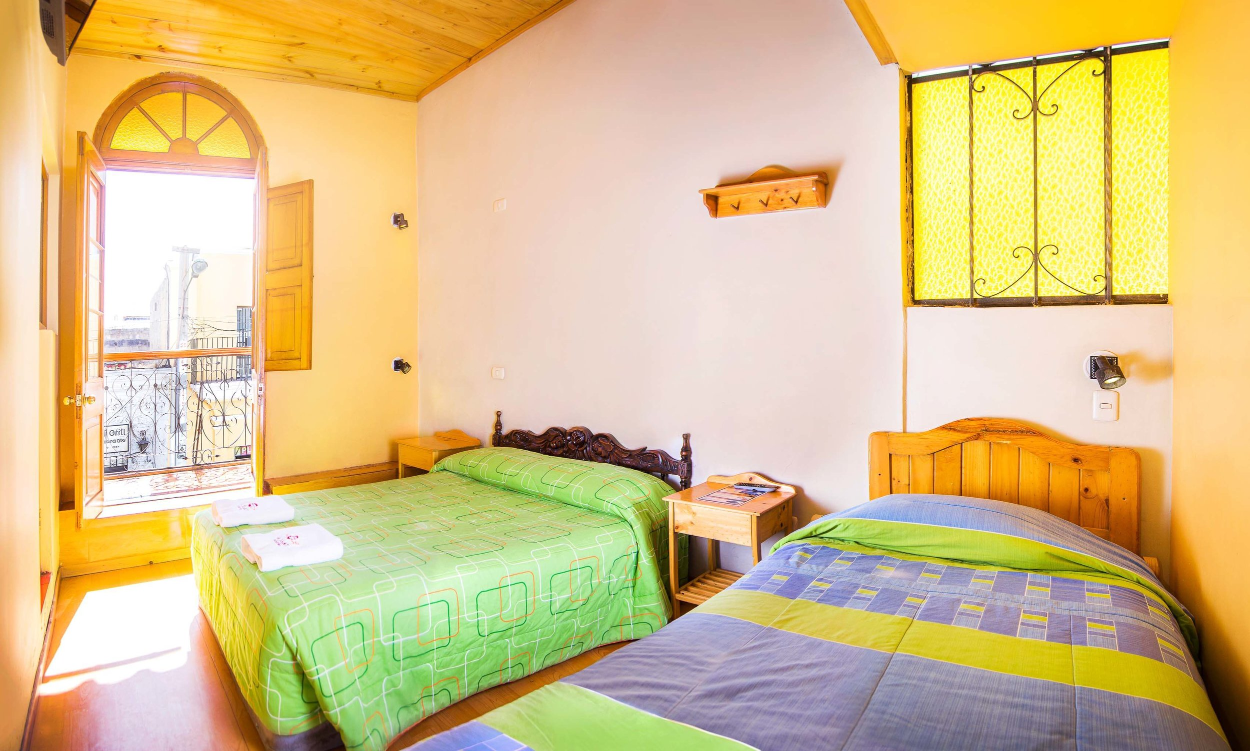Twin room with Balcony   at Le Foyer Hostel   Book with Us