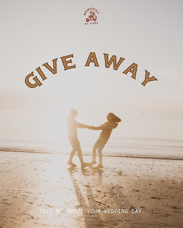 ✨✨✨GIVE AWAY✨✨✨ 💥1 x Couple Session Photography coverage  Hey Amazing friends,  Holy Cow! It's August again already which means wedding season 2019/2020 is kicking off very soon! Super stoked for all the magic that's gonna happen this summer!💃 I am giving away 1 x Couple Session Photography coverage to 1 lucky human! I will be helping you plan & prepare for your day and capture all your precious memories. 🌞  HOW TO ENTER: 👇👇👇 1. Follow @memoriesbyalena  2. Tell me about your dream wedding day in the comments 3. Tag TWO or more Friends (Each comment is an entry ;) )  OPTIONAL:  Screenshot this post, post it on your story and tag me! @memoriesbyalena 🔴To higher your chance of winning, make sure you do all of these above! 🔴  Winner will be announced on Friday 30th of August. Good Luck Everyone! 💕