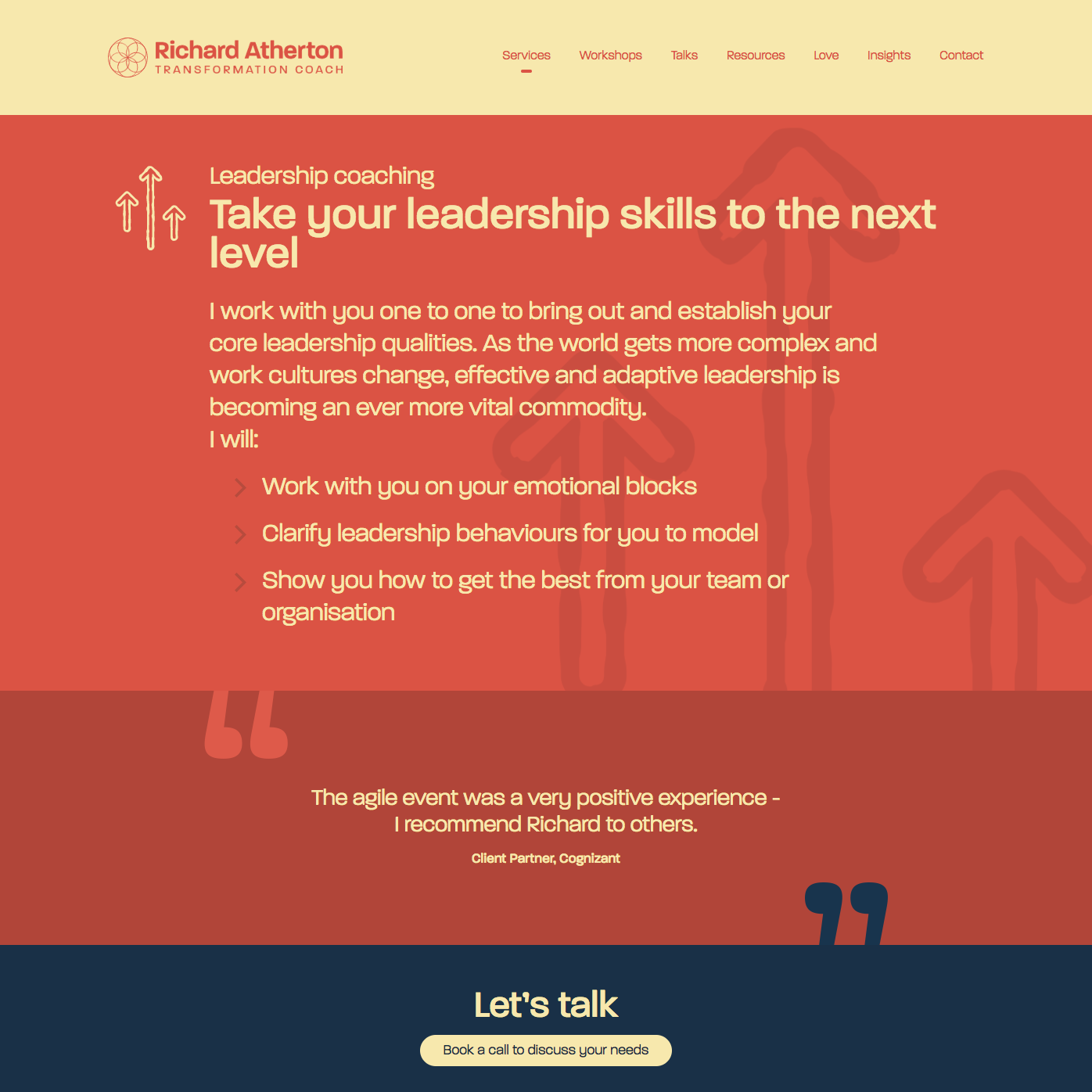 Services leadership page